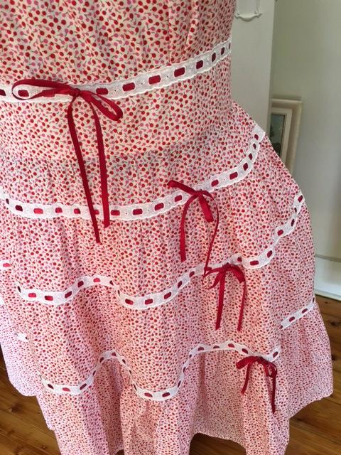 Dita dress ribbon close up