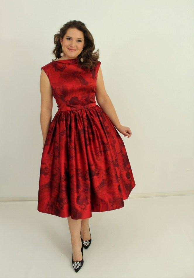 Emily Hallman Red Dress